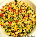 Healthy Chickpea & Corn Salad