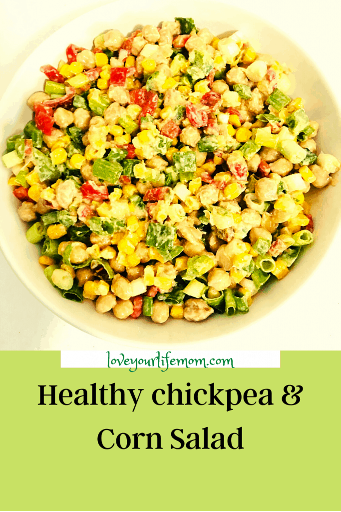 Healthy Chickpea Corn Salad