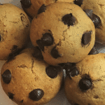 Delicious chocolate chip Muffins.Vegan recipe