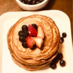 Healthy Whole Wheat Vegan Pancakes