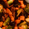 Roasted Brussel Sprouts and Sweet potatoes
